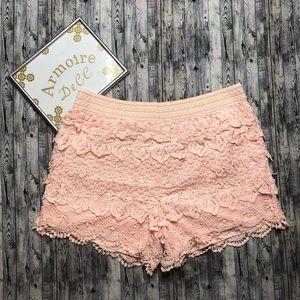 Cato Lace Crochet Shorts